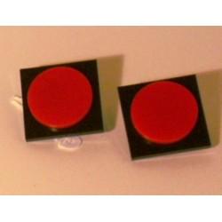 Orecchini Bottone Quadro 3
