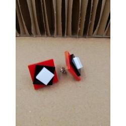 Orecchini quadri mini in rotazione 3