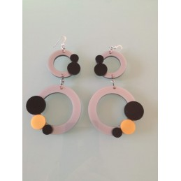 2 moving circles earrings